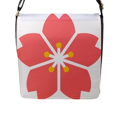 Sakura Heart Guild Flower Floral Flap Messenger Bag (l)  by Alisyart