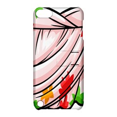 Petal Pattern Dress Flower Apple Ipod Touch 5 Hardshell Case With Stand by Alisyart