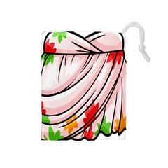 Petal Pattern Dress Flower Drawstring Pouches (medium)  by Alisyart