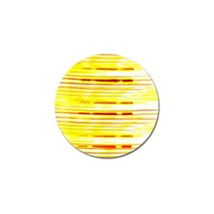 Yellow Curves Background Golf Ball Marker (4 Pack) by Simbadda