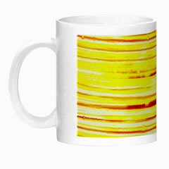 Yellow Curves Background Night Luminous Mugs by Simbadda