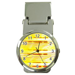 Yellow Curves Background Money Clip Watches by Simbadda