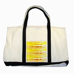 Yellow Curves Background Two Tone Tote Bag by Simbadda