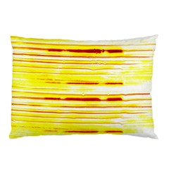 Yellow Curves Background Pillow Case by Simbadda