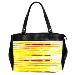 Yellow Curves Background Office Handbags (2 Sides)  by Simbadda