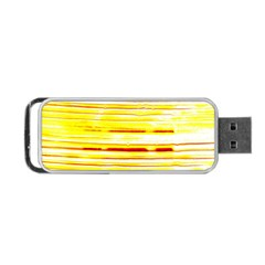 Yellow Curves Background Portable Usb Flash (two Sides) by Simbadda