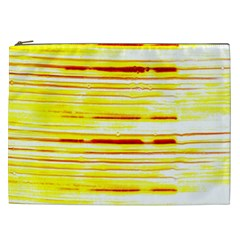 Yellow Curves Background Cosmetic Bag (xxl)  by Simbadda