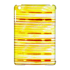 Yellow Curves Background Apple Ipad Mini Hardshell Case (compatible With Smart Cover) by Simbadda