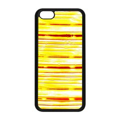 Yellow Curves Background Apple Iphone 5c Seamless Case (black) by Simbadda