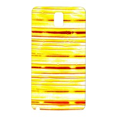 Yellow Curves Background Samsung Galaxy Note 3 N9005 Hardshell Back Case by Simbadda