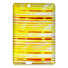 Yellow Curves Background Amazon Kindle Fire Hd (2013) Hardshell Case by Simbadda