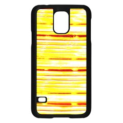 Yellow Curves Background Samsung Galaxy S5 Case (black) by Simbadda