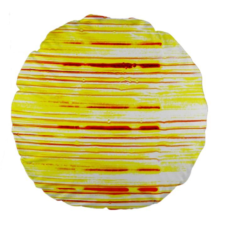 Yellow Curves Background Large 18  Premium Flano Round Cushions
