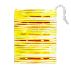 Yellow Curves Background Drawstring Pouches (extra Large) by Simbadda