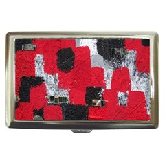 Red Black Gray Background Cigarette Money Cases by Simbadda