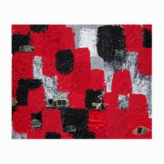 Red Black Gray Background Small Glasses Cloth by Simbadda