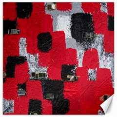 Red Black Gray Background Canvas 12  X 12   by Simbadda