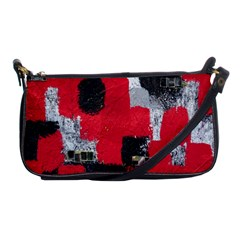Red Black Gray Background Shoulder Clutch Bags by Simbadda