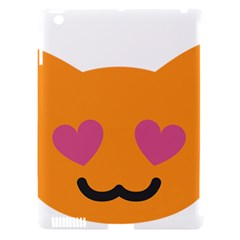 Smile Face Cat Orange Heart Love Emoji Apple Ipad 3/4 Hardshell Case (compatible With Smart Cover) by Alisyart