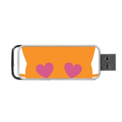 Smile Face Cat Orange Heart Love Emoji Portable Usb Flash (one Side) by Alisyart