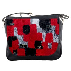 Red Black Gray Background Messenger Bags by Simbadda