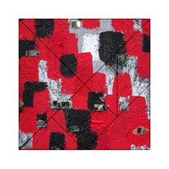 Red Black Gray Background Acrylic Tangram Puzzle (6  X 6 ) by Simbadda