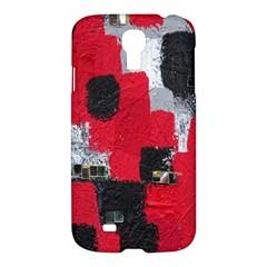 Red Black Gray Background Samsung Galaxy S4 I9500/i9505 Hardshell Case by Simbadda