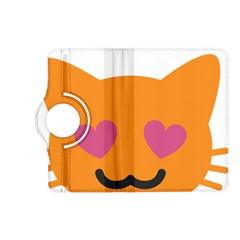 Smile Face Cat Orange Heart Love Emoji Kindle Fire Hd (2013) Flip 360 Case by Alisyart