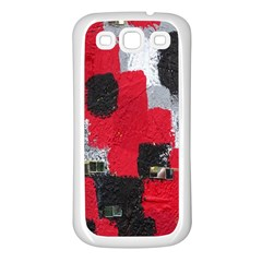 Red Black Gray Background Samsung Galaxy S3 Back Case (white) by Simbadda