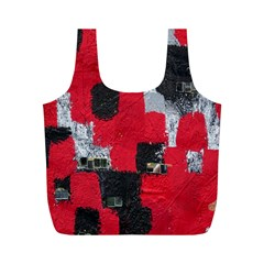 Red Black Gray Background Full Print Recycle Bags (m)  by Simbadda