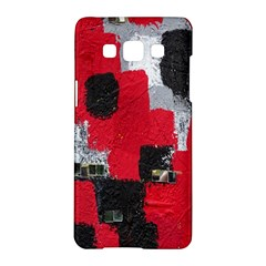 Red Black Gray Background Samsung Galaxy A5 Hardshell Case  by Simbadda