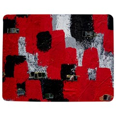 Red Black Gray Background Jigsaw Puzzle Photo Stand (rectangular) by Simbadda