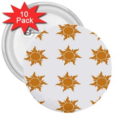 Sun Cupcake Toppers Sunlight 3  Buttons (10 Pack)  by Alisyart
