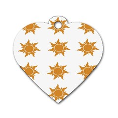 Sun Cupcake Toppers Sunlight Dog Tag Heart (two Sides) by Alisyart