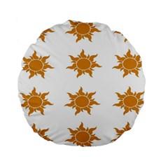 Sun Cupcake Toppers Sunlight Standard 15  Premium Round Cushions by Alisyart