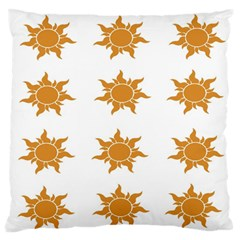Sun Cupcake Toppers Sunlight Large Flano Cushion Case (two Sides) by Alisyart