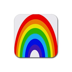 Rainbow Rubber Square Coaster (4 Pack)  by Alisyart