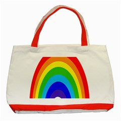 Rainbow Classic Tote Bag (red) by Alisyart