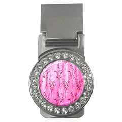Pink Curtains Background Money Clips (cz)  by Simbadda