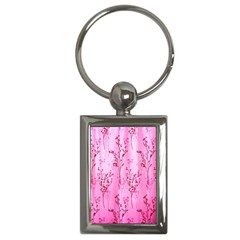 Pink Curtains Background Key Chains (rectangle)  by Simbadda