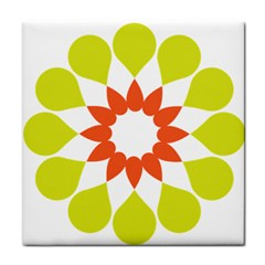 Tikiwiki Abstract Element Flower Star Red Green Tile Coasters by Alisyart