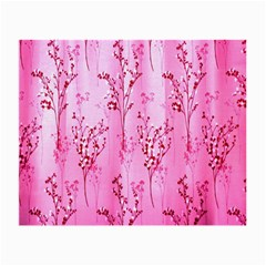 Pink Curtains Background Small Glasses Cloth by Simbadda