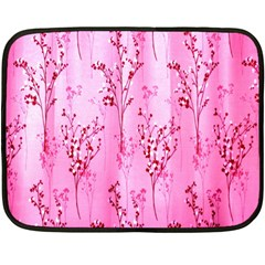Pink Curtains Background Fleece Blanket (mini) by Simbadda