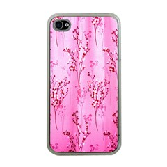 Pink Curtains Background Apple Iphone 4 Case (clear) by Simbadda