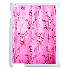 Pink Curtains Background Apple Ipad 2 Case (white) by Simbadda