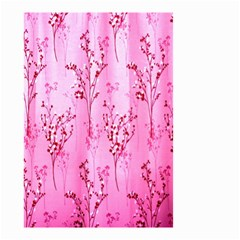 Pink Curtains Background Small Garden Flag (two Sides) by Simbadda