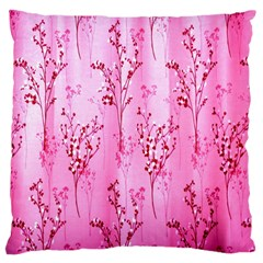 Pink Curtains Background Large Cushion Case (one Side) by Simbadda
