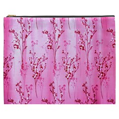 Pink Curtains Background Cosmetic Bag (xxxl)  by Simbadda
