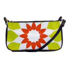 Tikiwiki Abstract Element Flower Star Red Green Shoulder Clutch Bags by Alisyart