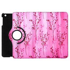 Pink Curtains Background Apple Ipad Mini Flip 360 Case by Simbadda
